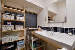 洗面台の様子。(2017-11-30,共用部,WASHSTAND,1F)