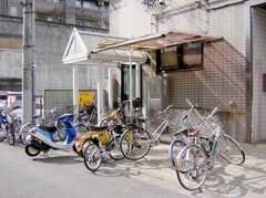 正面玄関前の駐輪場スペース。(2007-04-21,共用部,GARAGE,1F)