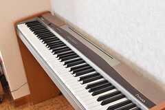 電子ピアノの様子。(2017-02-14,共用部,LIVINGROOM,1F)