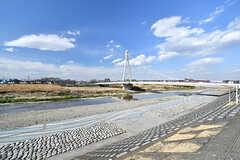浅川の様子。橋が美しいです。(2017-03-09,共用部,ENVIRONMENT,1F)