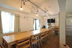 シェアハウスのラウンジの様子。(2012-08-05,共用部,LIVINGROOM,1F)