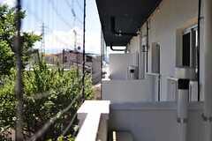 ベランダの様子。。ネットに緑のカーテンが作られる予定です。(411号室)(2012-08-05,専有部,ROOM,4F)