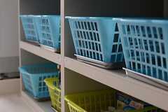 シンクの下には専有部ごとに使える収納が設けられています。(2013-06-03,共用部,OTHER,9F)