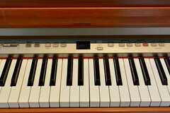 電子ピアノの鍵盤の様子。(2016-07-22,共用部,OTHER,1F)