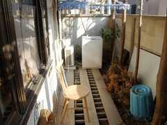洗濯機の様子。(2008-02-19,共用部,OTHER,1F)