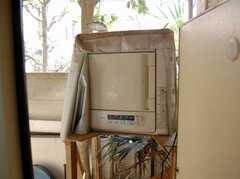 乾燥機の様子。(2008-02-19,共用部,LAUNDRY,1F)
