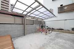 自転車置場の様子。(2012-12-21,共用部,GARAGE,1F)