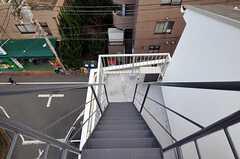 屋上へ上る階段の様子。(2010-12-15,共用部,OTHER,6F)