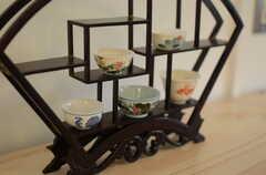 茶器は台湾のモノだそう。部屋の数とおなじく5人分用意されています。(2011-09-13,共用部,OTHER,1F)