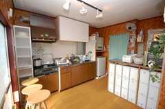 シェアハウスのラウンジの様子。(2008-11-18,共用部,LIVINGROOM,1F)