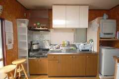 シェアハウスのキッチンの様子。(2008-11-18,共用部,KITCHEN,1F)