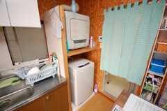 洗濯機の様子。(2008-11-18,共用部,LAUNDRY,1F)