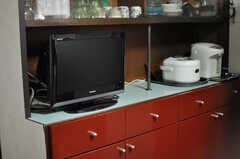 共用TVの様子。(2013-05-26,共用部,TV,1F)