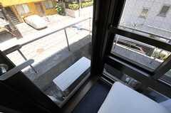 ガラスドアがありますが、通常は立ち入り禁止です。(204号室)(Fine)(2012-07-17,専有部,ROOM,2F)