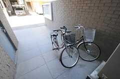 駐輪場の様子。(2012-07-17,共用部,GARAGE,1F)