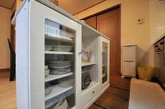 カウンターの下は食器棚。(2014-04-01,共用部,KITCHEN,1F)