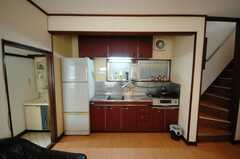 シェアハウスのキッチンの様子。(2008-05-28,共用部,KITCHEN,1F)