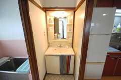 洗面台の様子。(2008-05-28,共用部,TOILET,1F)