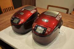 炊飯器の様子。(2011-03-25,共用部,KITCHEN,1F)