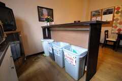 ゴミ箱の様子。(2009-02-25,共用部,OTHER,1F)