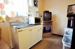 シェアハウスのキッチンの様子。(2009-02-25,共用部,KITCHEN,1F)