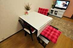 テーブルの様子。(504号室)(2010-10-12,共用部,LIVINGROOM,4F)
