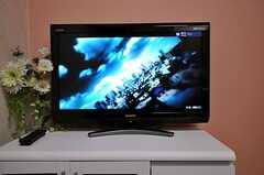 共用TVの様子。(504号室)(2010-10-12,共用部,TV,4F)