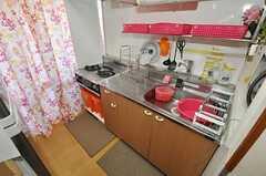 シェアハウスのキッチンの様子。(504号室)(2010-10-12,共用部,KITCHEN,4F)