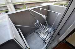 ベランダの様子。(5042号室)(2010-10-12,専有部,ROOM,5F)