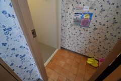 シャワールームの脱衣室の様子。(2017-08-28,共用部,BATH,1F)