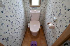 ウォシュレット付きトイレの様子。(2017-08-28,共用部,TOILET,1F)