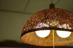 照明の様子。(202号室)(2015-02-21,専有部,ROOM,2F)