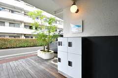 宅配ボックスが設置されています。(2021-07-05,周辺環境,ENTRANCE,1F)