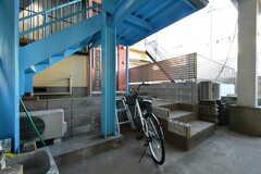 自転車置き場の様子。(2020-12-21,共用部,GARAGE,1F)