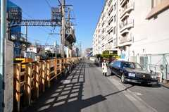 東武東上線上板橋駅からシェアハウスへ向かう道の様子。(2009-01-16,共用部,ENVIRONMENT,1F)