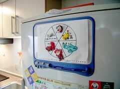 冷蔵庫に設置された各種当番表。現在の住人さん達作。(2006-06-11,共用部,OTHER,1F)