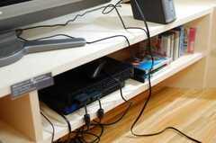ゲーム機は入居者さんの私物だそう。(2010-04-30,共用部,LIVINGROOM,2F)