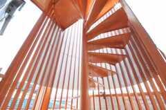 屋上へ向かう螺旋階段。(2010-04-30,共用部,OTHER,3F)