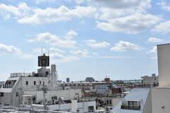 屋上から見たシェアハウス周辺の様子。(2019-09-20,共用部,OTHER,5F)