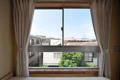 北向きの窓からの眺め。(303号室)(2012-06-18,専有部,ROOM,3F)