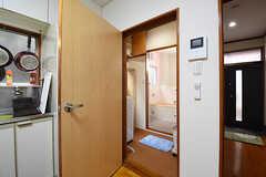 脱衣室の様子。(2016-06-07,共用部,BATH,2F)