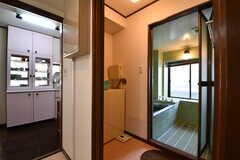 バスルームの脱衣室の様子。(2017-10-18,共用部,BATH,3F)