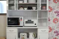 食器棚にはキッチン家電も収まっています。(2014-05-21,共用部,KITCHEN,2F)