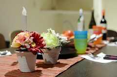 テーブルの上は、パーティーの装い。(2012-11-26,共用部,OTHER,2F)