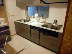 シェアハウスのキッチンの様子。(2007-12-12,共用部,KITCHEN,1F)