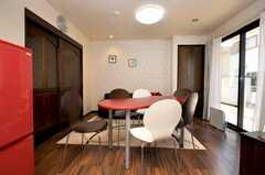 シェアハウスのラウンジの様子2。(2009-02-10,共用部,LIVINGROOM,1F)
