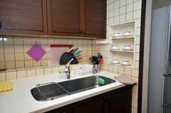 シェアハウスのキッチンの様子2。(2009-02-10,共用部,KITCHEN,1F)