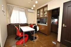 シェアハウスのラウンジの様子2。(2009-02-10,共用部,LIVINGROOM,3F)