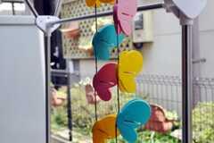 テラスにはカラフルな蝶の洗濯ばさみ。(2010-06-11,共用部,OTHER,1F)