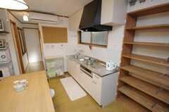 シェアハウスのキッチンの様子。(2008-06-04,共用部,KITCHEN,1F)